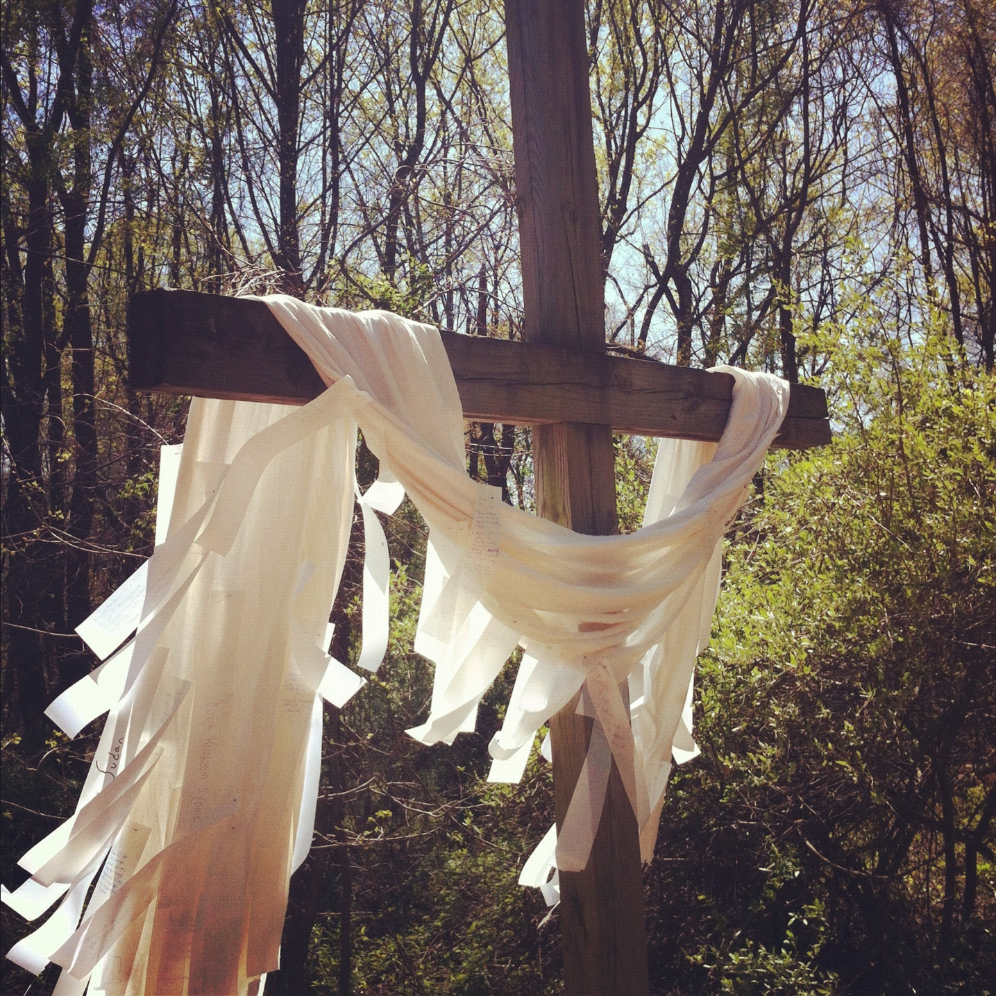 Easter cross in the Woodland Chapel