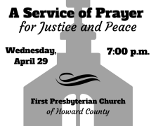 Pray and Worship for Justice and Peace in Baltimore